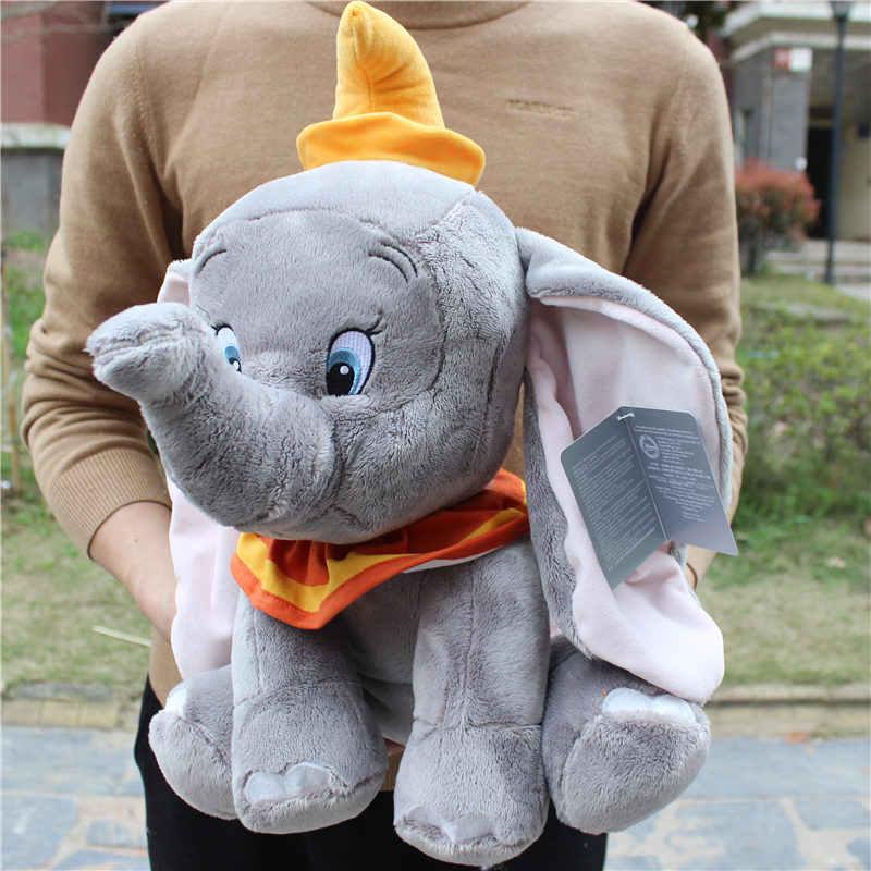 Мягкие плюшевые игрушки Dumbo Elephant, 1 шт., 45 см = 17,7 дюйма, большой размер, 2019