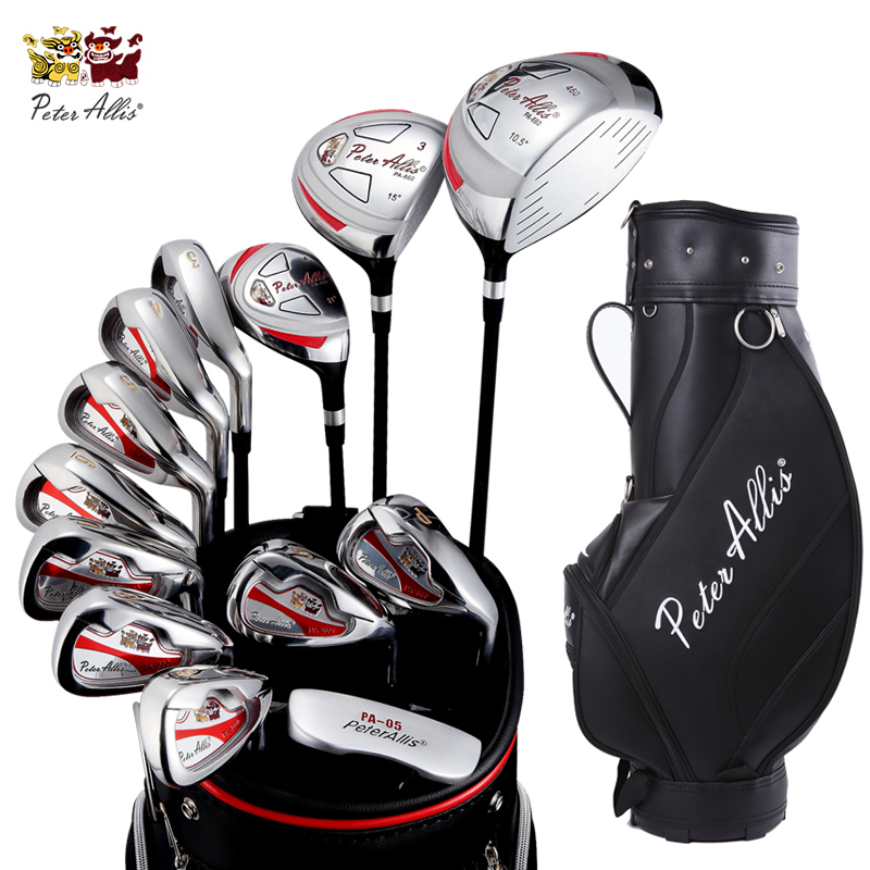 Brand PETERALLIS mens golf clubs complete full golf irons set graphite shafts golf clubs branded women ladies golf set simulation mini golf course display toy set with golf club ball flag