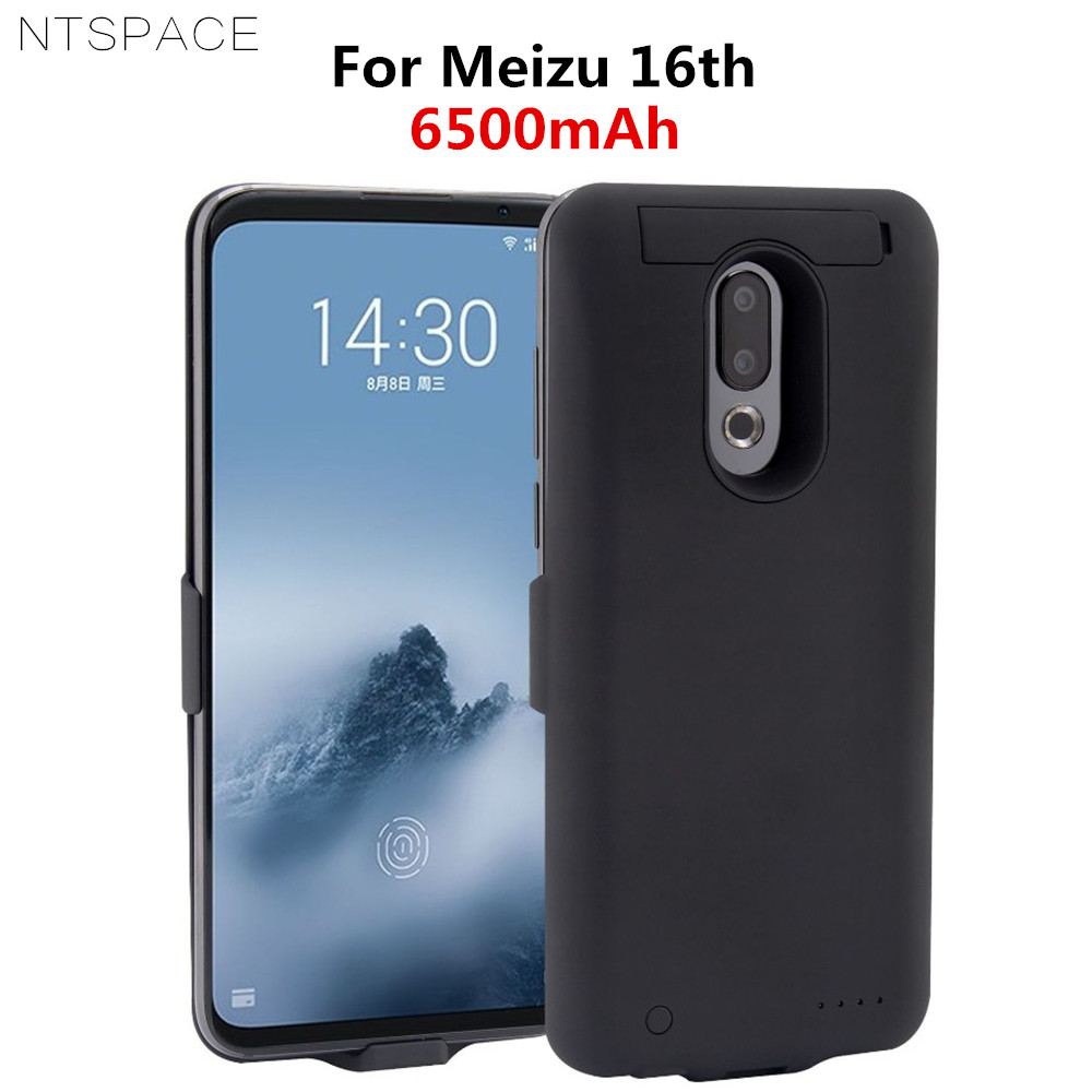NTSPACE 6500mAh External Back Clip Battery Case For Meizu16th Plus Battery Charger Cases For MEIZU16th Power Charging Cover Case in Battery Charger Cases from Cellphones Telecommunications