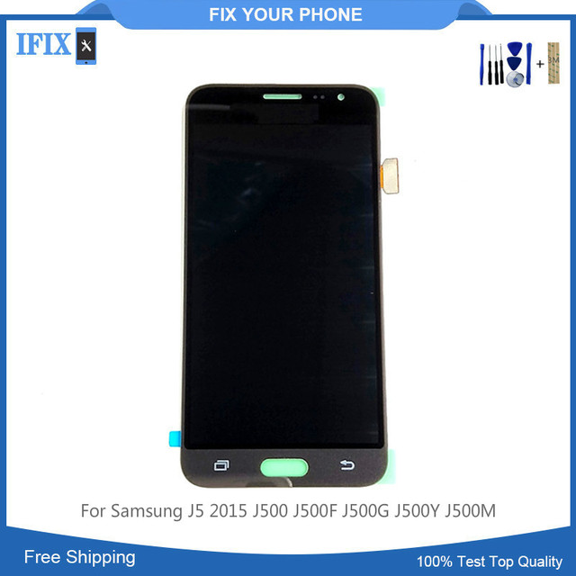 US $15 2  Can Not Adjust Brightness Lcd For Samsung J5 2015 J500 J500F  J500G J500Y J500M Lcd Display Touch Screen Digitizer + Tools-in Mobile  Phone