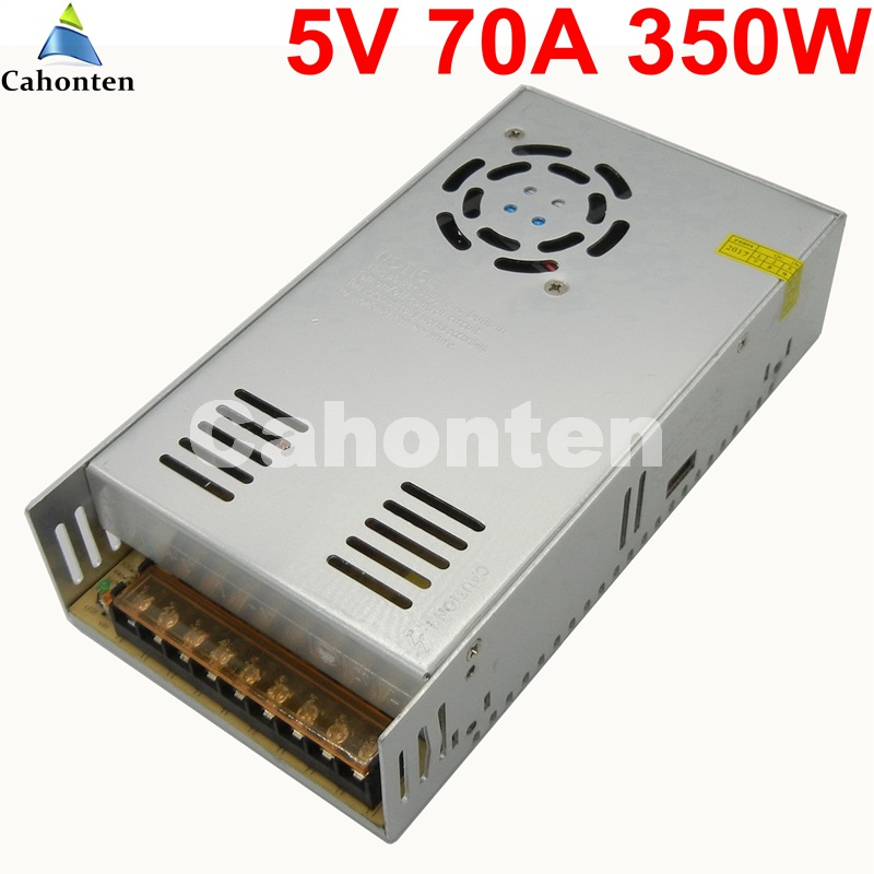 Free Ship DC 5V 70A 350W LED Driver switch Power Supply Adapter Transformer AC 110v 220v converter for led strip lamp ac dc 36v ups power supply 36v 350w switch power supply transformer led driver for led strip light cctv camera webcam