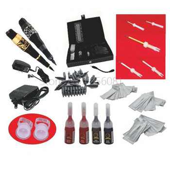 Eyebrow Machine Microblading Set Profissional Permanent Makeup Machine Ink Needles Kit for 3D Eyebrows Lip