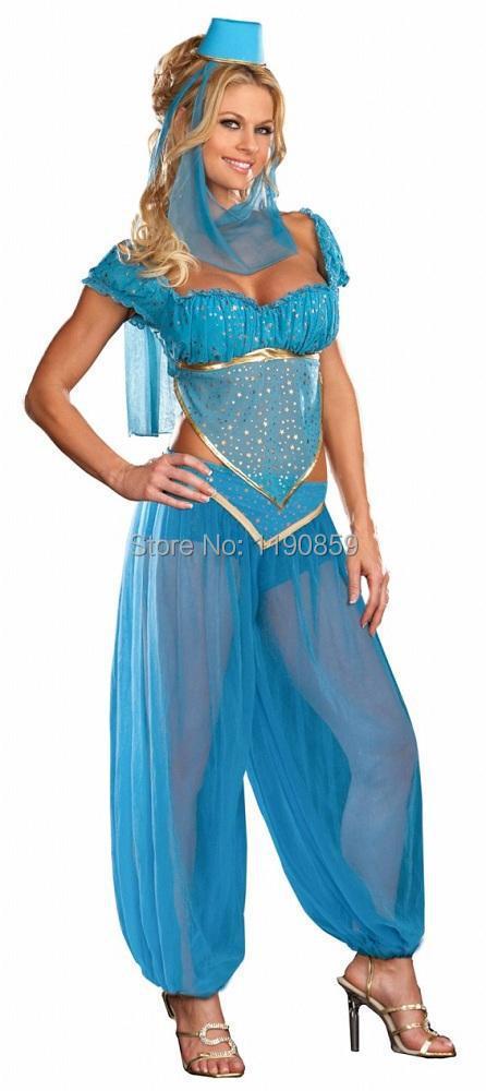 Womens Sexy Bollywood Indian Princess Dancer Genie Jasmine