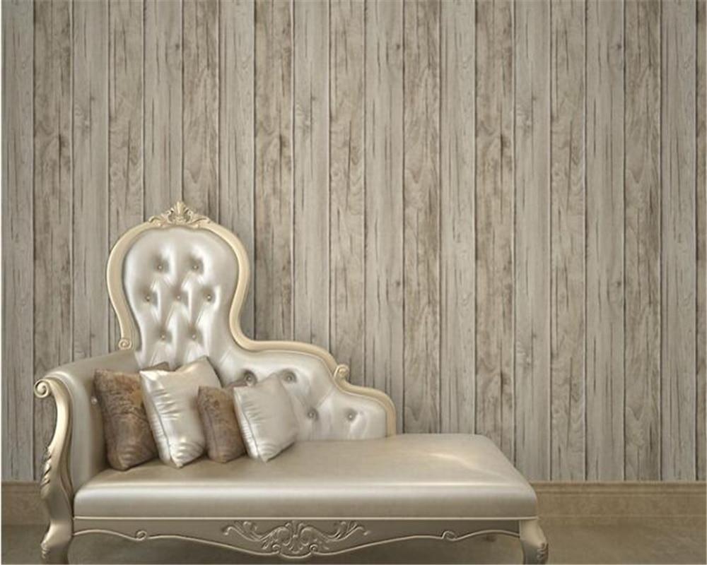 Beibehang d behang houten vloer gestreepte behang restaurant thee
