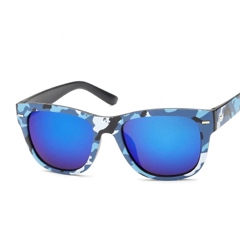 2017 NOVA chegou mulheres   homens dos óculos de sol UV400 Revestimento de lente  Anti-reflexo Rebites óculos Da Forma Do Vintage quadro Camouflage N702 ad805e4ede