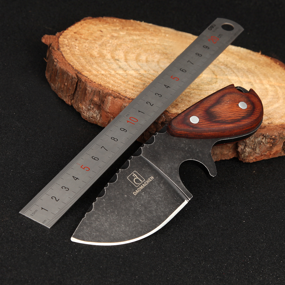 DAOMACHEN Tactical Hunting Knife Outdoors Camping Survive Knives Multi Survival Tool Stone Wash Blade Drop Shipping