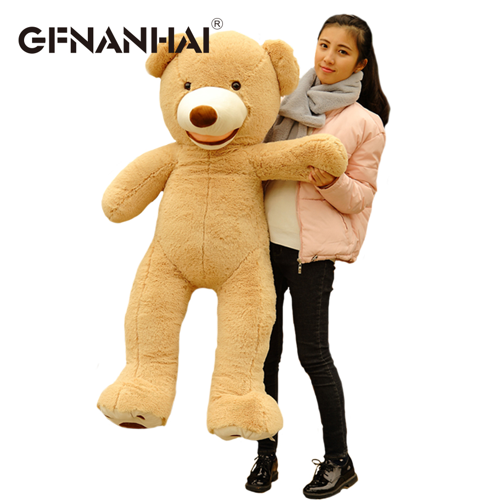 1pc 160cm big size USA giant bear skin plush toy high quality Teddy bear hull Self filling for kids children girls birthday gift the lovely bow bear doll teddy bear hug bear plush toy doll birthday gift blue bear about 120cm