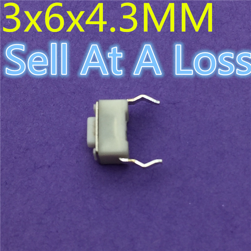 50pcs 3x6x4.3MM 2PIN Tactile Tact G76 High Quality Push Button Micro Switch Self-reset Sell At A Loss USA Belarus Ukraine ep high quality 50pcs lot 6 6 20 mm interruptor 4 pin tactile tact push button micro switch direct plug in self reset top copper