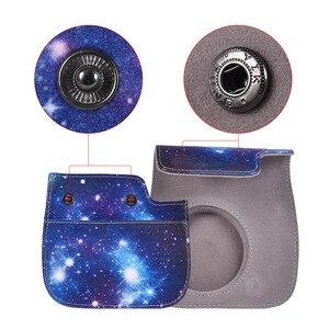 Image 5 - PU Beschermende Instant Mini 8 Case Camera photo Bag Pouch Protector met Riem voor Fujifilm Instax Mini 8 +/8 s/8/9 Foto Case blauw