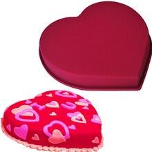 1 шт. большая в форме сердца силиконовые пресс-формы для кухни 21,5*24,5*4 см торт выпечка платье для дня рождения; нарядное наборы для десерта E490