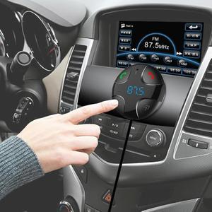 Беспроводной автомобиля FM передатчик Bluetooth Car Kit громкой связи MP3 плеер индикатор напряжения батареи Поддержка двойное зарядное устройство USB AUX