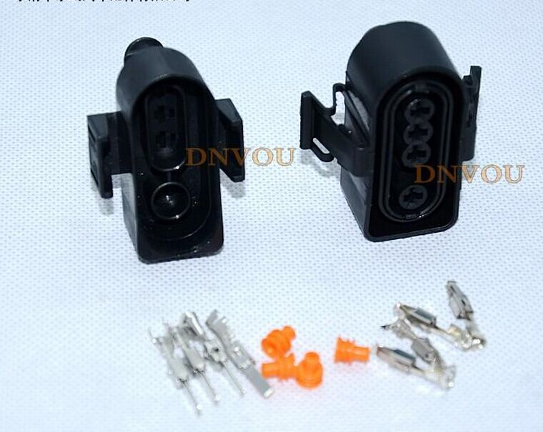 1set 4pin Automotive sensor Oxygen sensor plug connectors Electrical Wire connector Plug DJD7031-3.5-11 DJD7031-3.5-21 black 50 sets 4 pin dj3041y 1 6 11 21 deutsch connectors dt04 4p dt06 4s automobile waterproof wire electrical connector plug