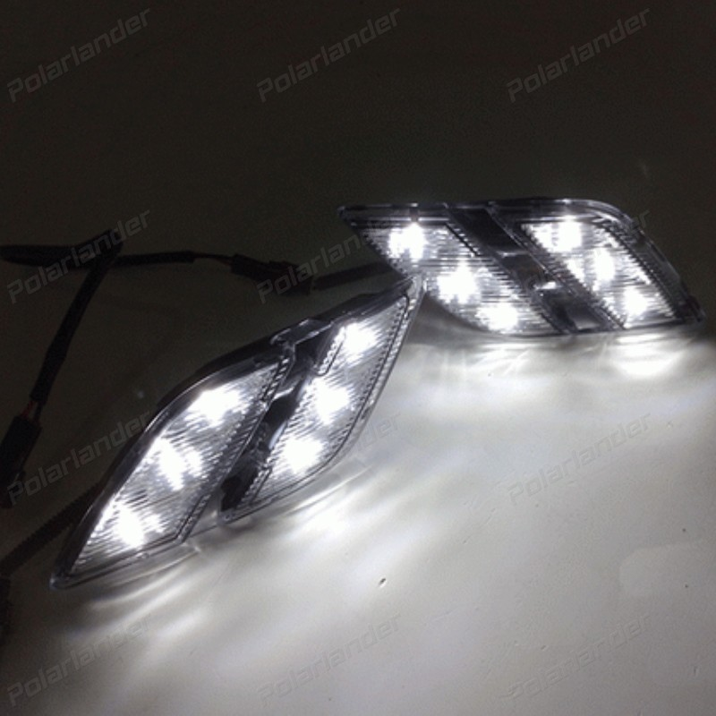Fog <font><b>Lamp</b></font> Car DRL led Daytime Running Lights for <font><b>Peugeot</b></font> <font><b>301</b></font> 2014-2015 auto part image