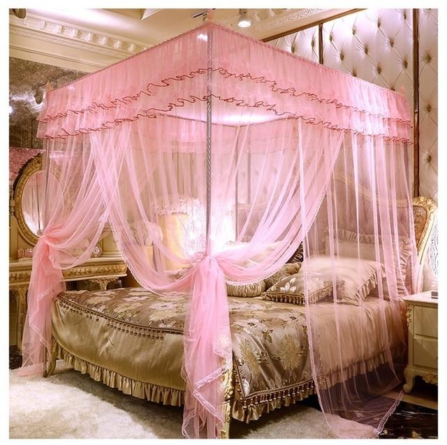 32 cm dikke beugel Romantische Zomer slaapkamer Klamboe Europese ...