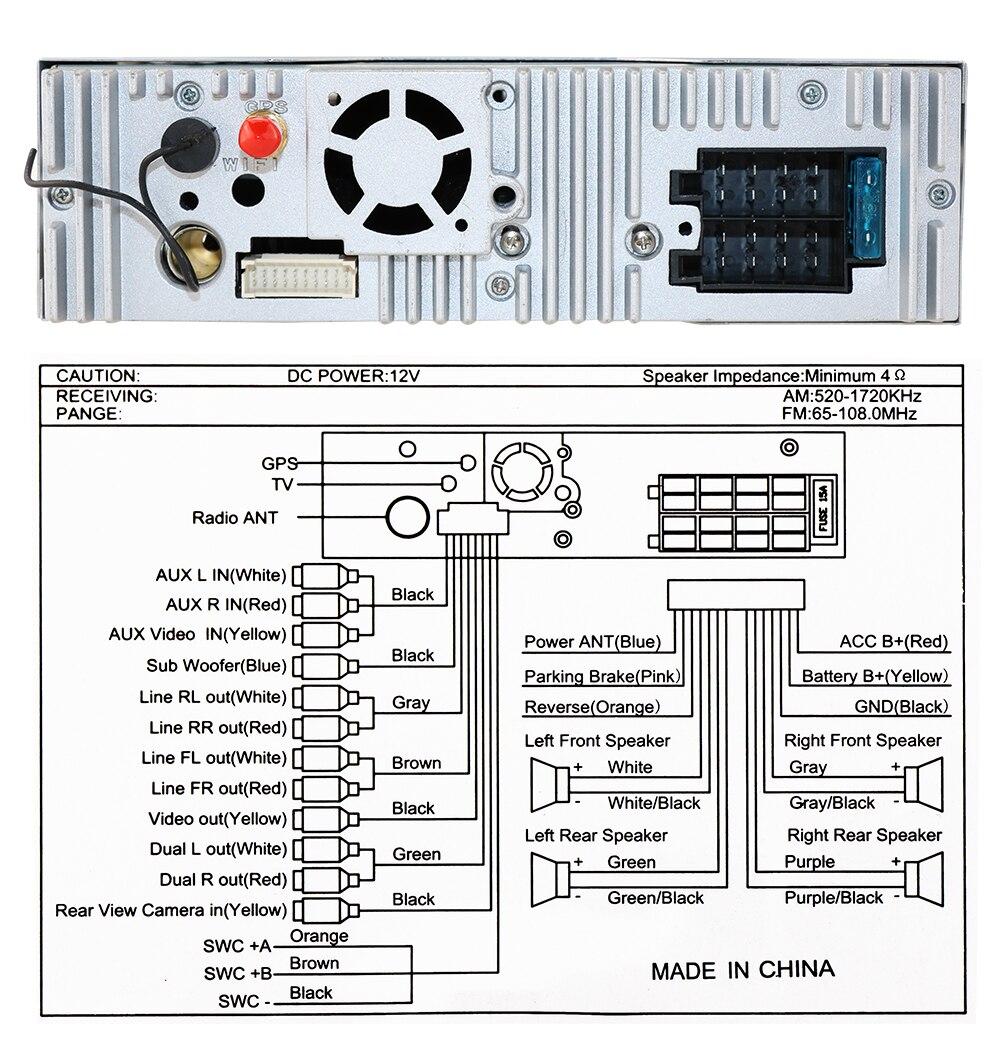 Macchina Fotografica Libera di Un 1 Din Radio Car Dvd Player Gps Navigator Registratore Autoradio Lettore di Cassette Auto Radio Gps Multimedia dab Bt - 6