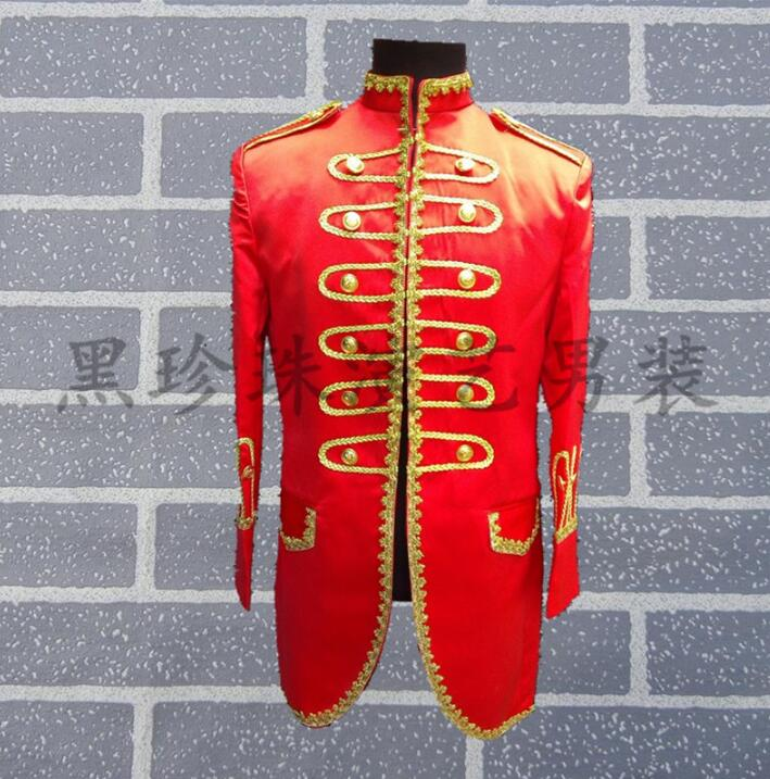 Royal men suits designs masculino homme terno stage costumes for singers men sequin blazer dance clothes jacket style dress red