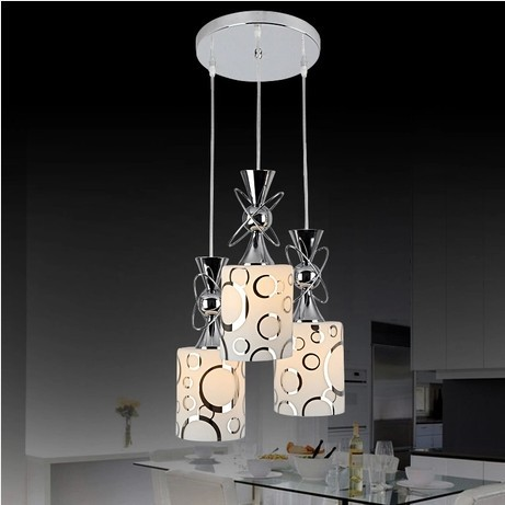 1/3 heads lamps creative led restaurant dining room chandelier bar chandelier lamp study lamp personality minimalist FG725 contemporary and contracted creative personality retro art glass chandelier cafe restaurant study lamps act the role of milan