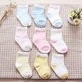 2017 meias 6 pares/lote bebê das meninas dos meninos do bebê meias infantil crianças crianças meias meias calcetines algodão Penteado novo nascido recem nascido