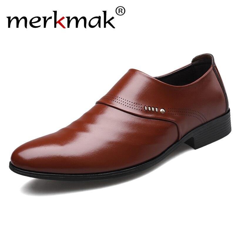 Merkmak 2019 new business men Oxfords shoes set of