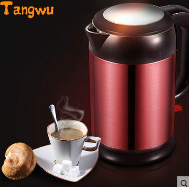 Free shipping double layer automatic power-off burn thermos kettle Electric kettles