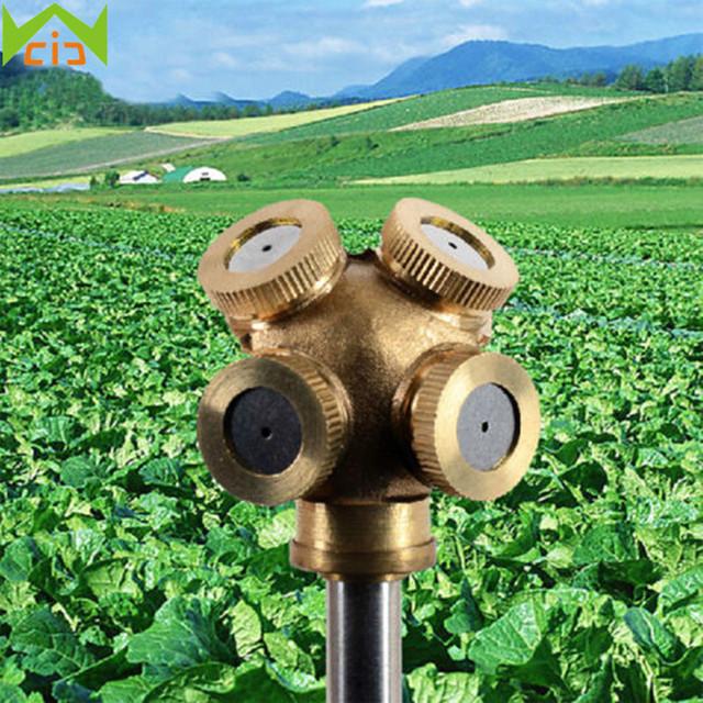 WCIC Mist Nozzles Water Spray Nozzle Garden Sprinkler Adjustable Spray Nozzle Brass Irrigation Fitting aspersor de jardim