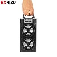 EXRIZU MS-147BT Bezprzewodowy Głośnik Bluetooth Przenośne Ręczne High Power LED Światła FM Radio Audio Odtwarzacz Muzyki Wsparcie TF Karty USB