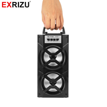 EXRIZU MS 147BT LED Light Wireless Bluetooth Portable Hand Speaker High Power FM Radio Audio font