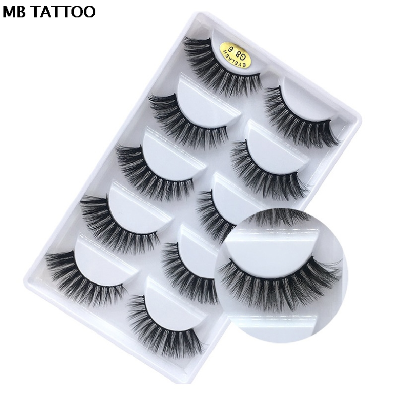 HTB1yqrKXZrrK1Rjy1zeq6xalFXa3 New 3D 5 Pairs Mink Eyelashes extension make up natural Long false eyelashes fake eye Lashes mink Makeup wholesale Lashes