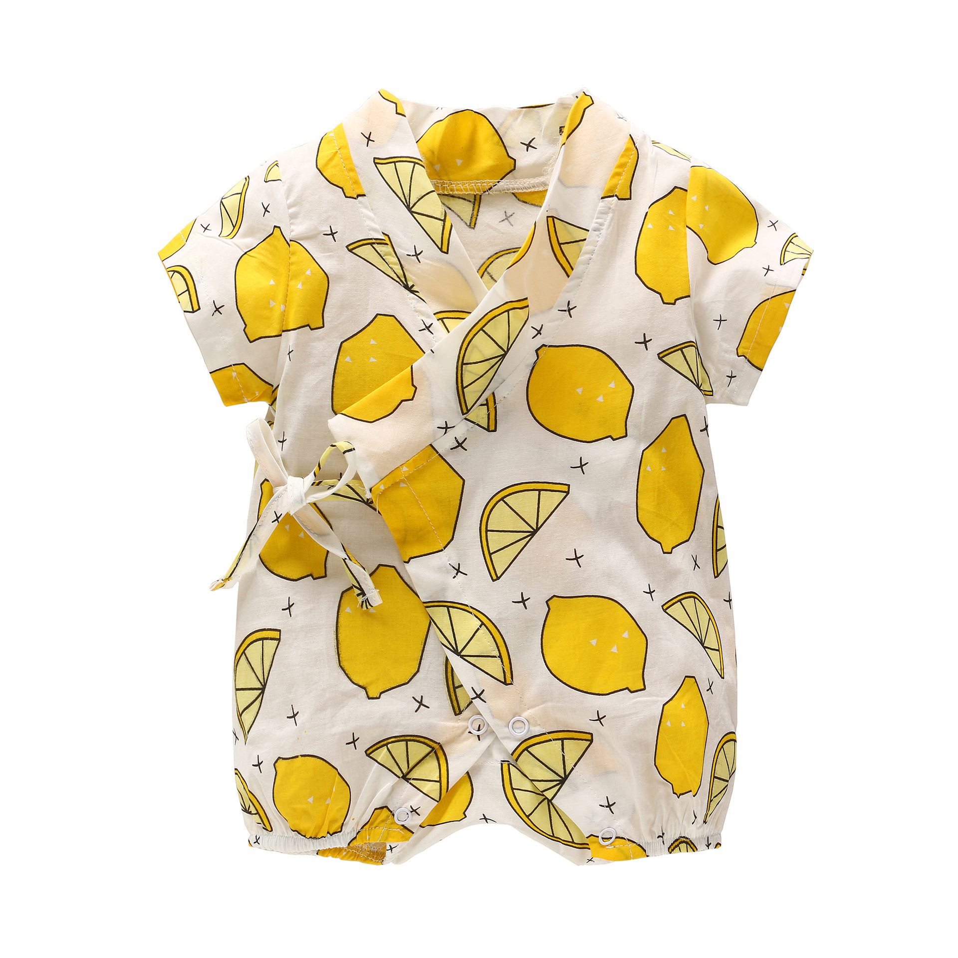 2019 New Born Baby Cheap&Quality Clothes Baby Summer Cotton Short Sleeve   Rompers   Infant Girl Boy Thin Out Suit Cute Fruit Kimono