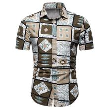Plus size Hawaiian Shirt Men Floral Short sleeve Casual Dress Shirt mens clothing Summer Blouse Men plus size ombre floral empire waist t shirt