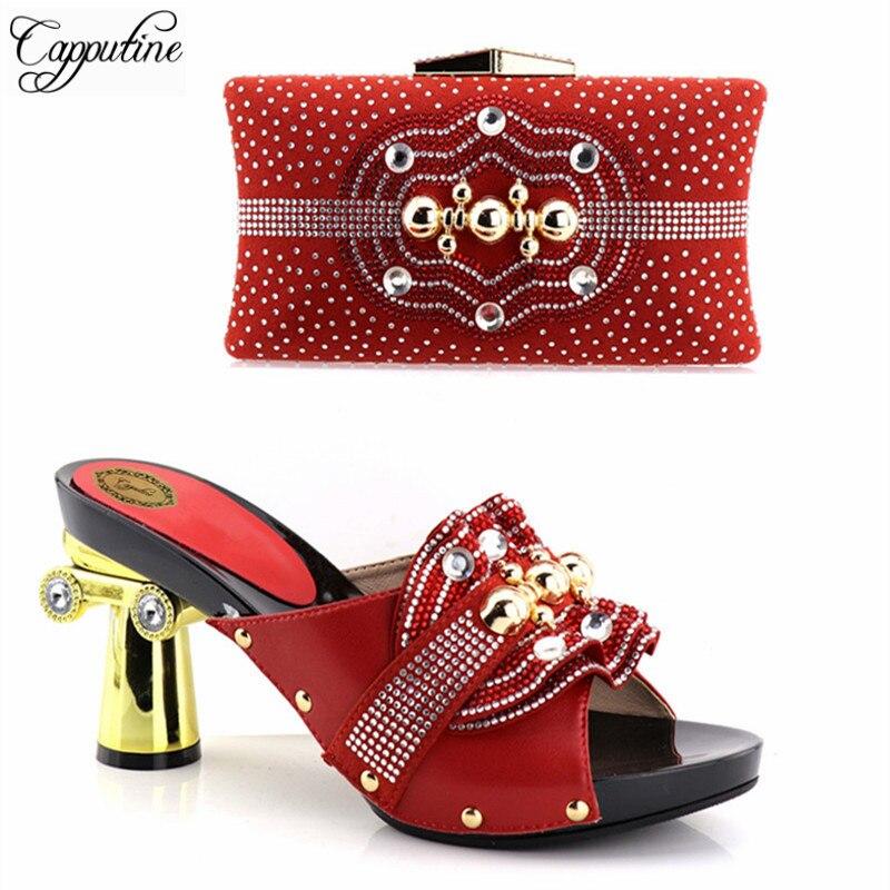 9 Capputine Altos A Bonitos Calidad Bolsas Set Zapatos Italiana Juego Mujer Tacones De Alta Cm Y Pkn0wOXN8