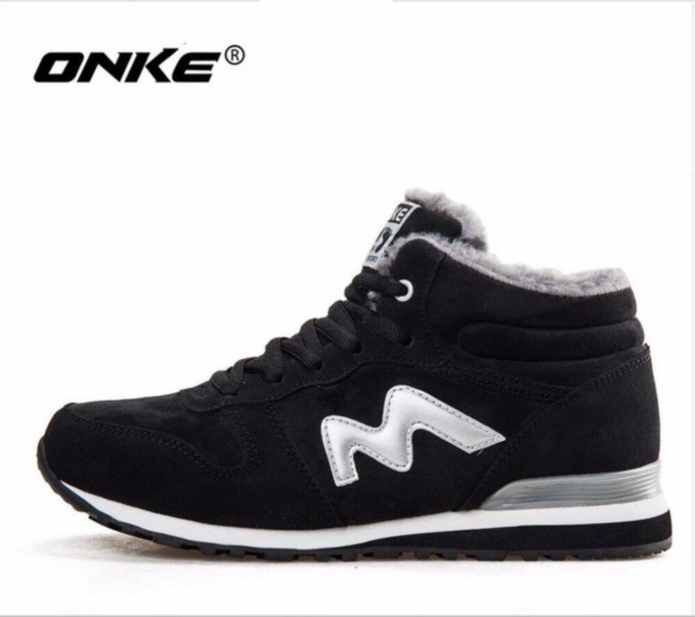 ONKE Nouvelle annonce chaude ventes d'hiver Plus de Velours femmes chaussures de course hommes sneakers lovers chaussures taille 36-45 921-922