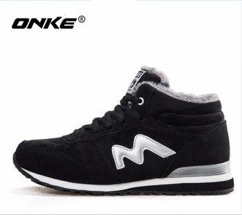 ONKE Yeni liste sıcak satış kış Artı Kadife kadın koşu ayakkabıları erkek spor ayakkabı severler ayakkabı boyutu 36-45 921- 922