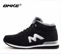 ONKE New Listing Hot Sales Winter Plus Velvet Women Running Shoes Men Sneakers Lovers Shoes Size