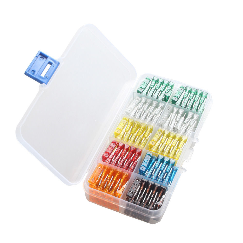 EE support 100Pcs Assorted Car Mini Low Profile Fuse Box 5 7.5 10 15 20 25 30 A DIY Sales