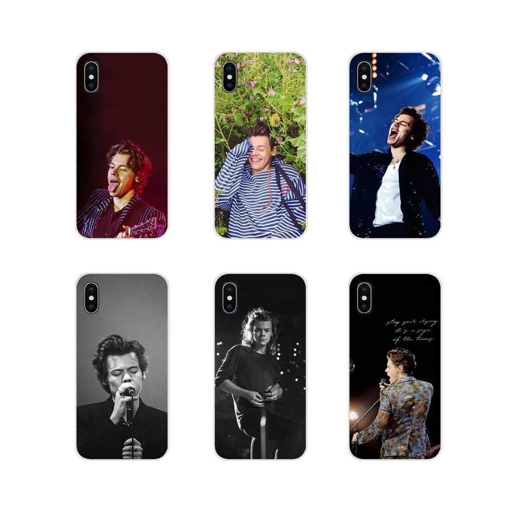 แฟชั่น 1d แฮร์รี่รูปแบบโทรศัพท์กรณีครอบคลุมสำหรับ Samsung Galaxy A3 A5 A7 J1 J2 J3 J5 j7 2015 2016 2017