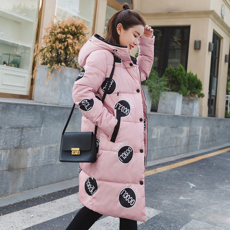 In the maternity Qiu Yingying paragraphs with Yang Zitong long down cotton-padded jacket cotton-padded clothes woman coat of cul product release in the winter 2016 the original design printing 100% cotton linen loose big yards women cotton padded clothes