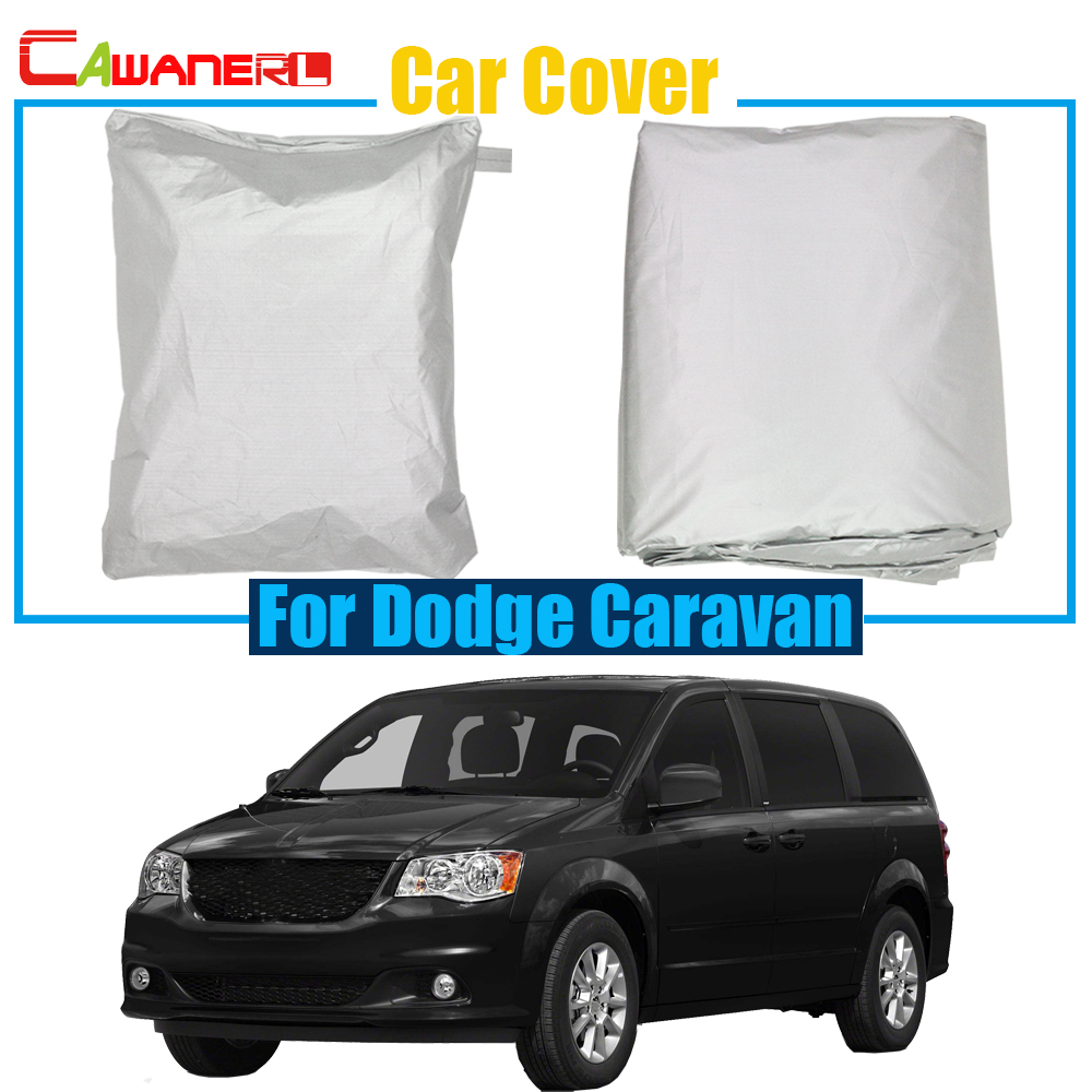 Cawanerl Auto Cover Outdoor Rain Snow Sun Resistant Car Cover Anti UV Dustproof For Dodge Caravan