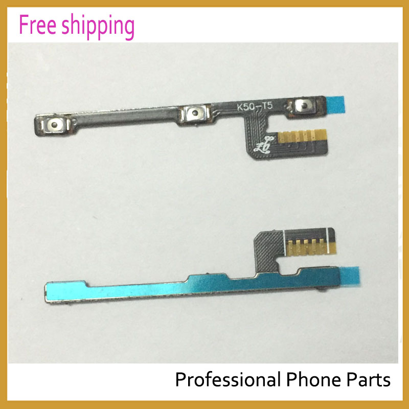 2 Pcs/Lot ,Original For Lenovo K3 Note K50-T5 Power ON OFF Volume Button Switch Flex Cable Replacement Spare Parts
