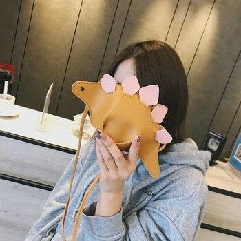 Babay Criativo Chameleon Bolsas Flap 3D Engraçado Animal Dinossauro Dos Desenhos Animados Saco Do Mensageiro Com Painéis Ombro Crossbody Sacos de Presente Da Menina