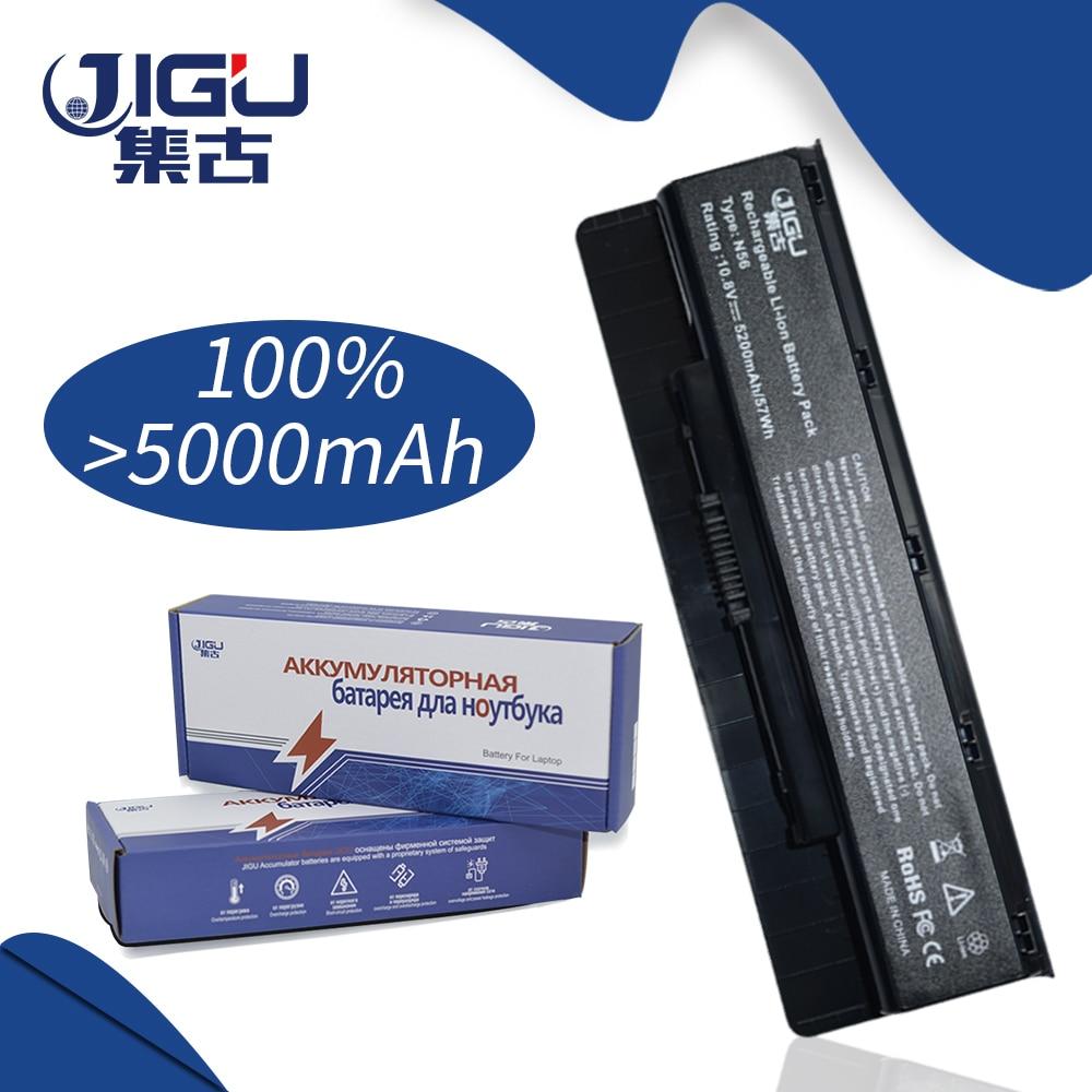 JIGU 5200 mah Batterie D'ordinateur Portable Pour Asus A31-N56 A32-N56 A33-N56 N46 N46V N56 N56V N76 N56VZ B53V B53V B53A F45U r500N N76VJ