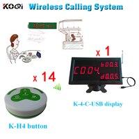 Sino de chamada sem fio  sistema de paginação  garçom por exibição receber informações sobre o serviço de pedido do cliente