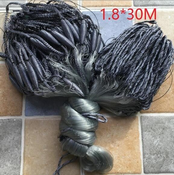 Finefish filet finlandais de pêche, Monofilament, monocouche, pour Gillnet de pêche, 1.8x30M