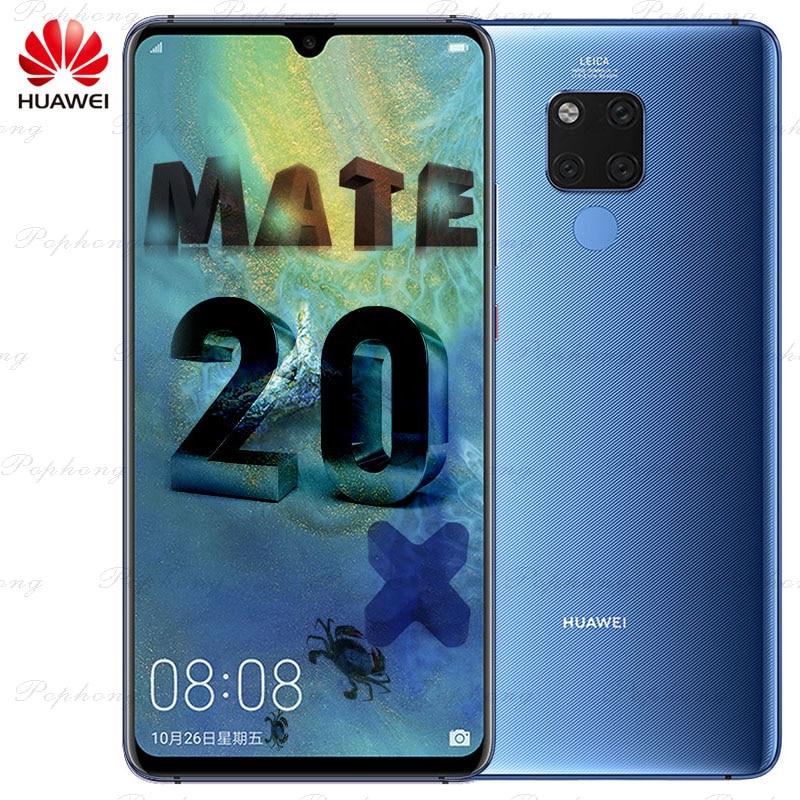 7,2 дюймов полный Экран huawei Коврики 20 X мобильный телефон Andorid 9,0 Kirin 980 Octa Core 40.0MP NFC IP53 Быстрый Зарядное устройство 4,5 В/5A 4cams