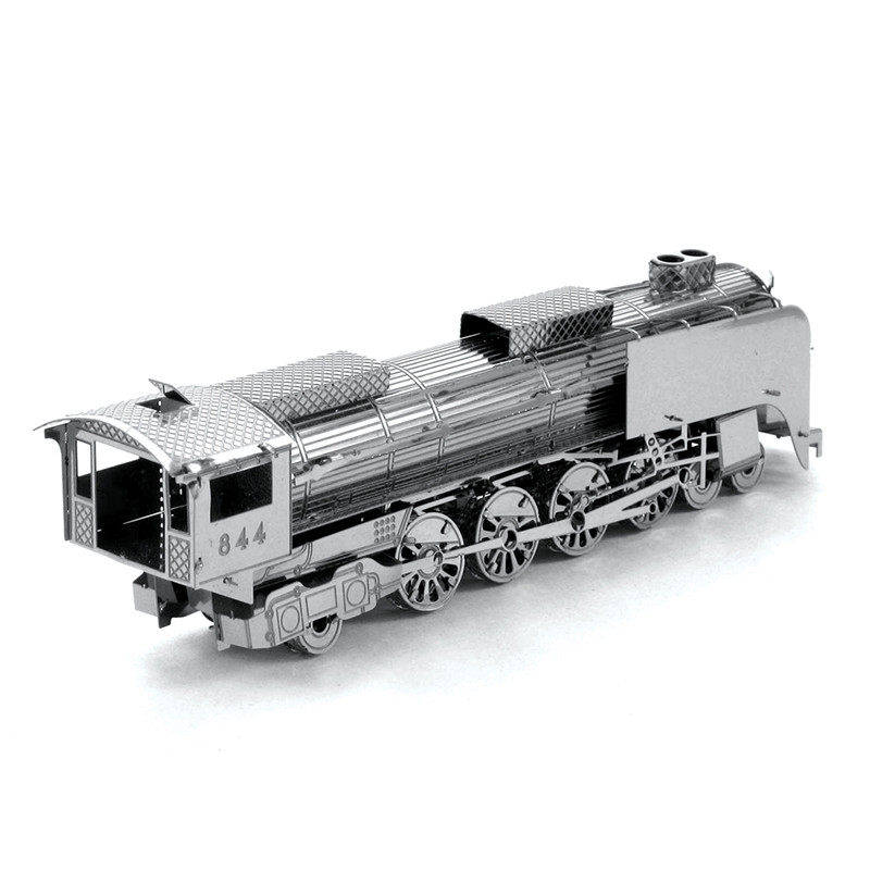 3D Puzzle Japan D51 Locomotive Stainless Steel DIY Assembly Model Building Educational Toys Jigsaw Puzzle Brinquedos