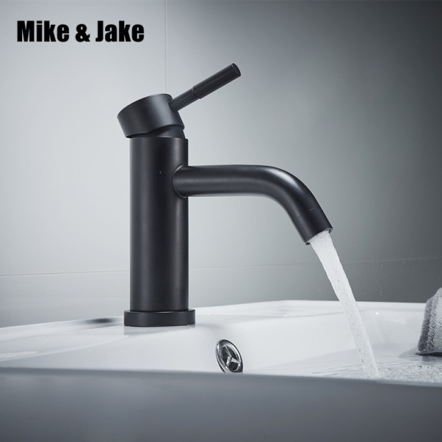 Bathroom Black Faucet Stainless Steel 304 Basin Mixer Free Pb Black Tap  Basin Sink Water Tap