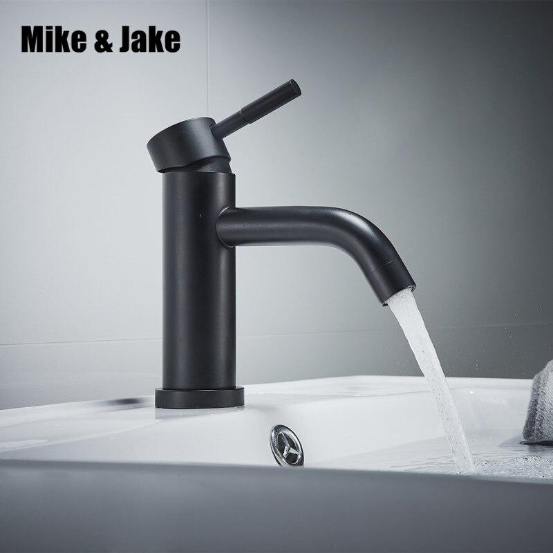 Salle de bains noir robinet en acier Inoxydable 304 bassin mélangeur Livraison pb noir robinet bassin évier robinet d'eau noire mélangeur en acier inoxydable robinet