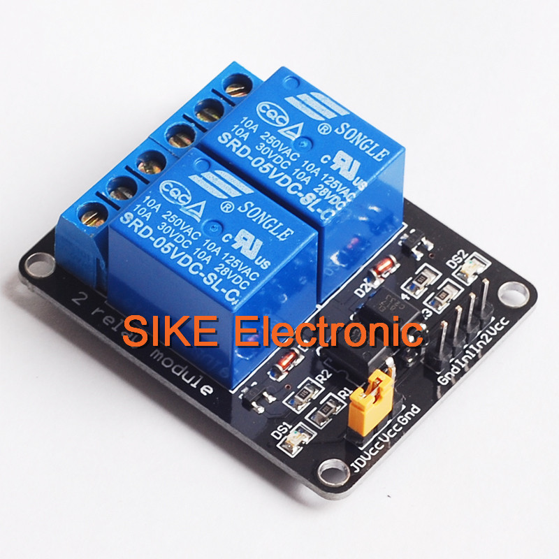 Relay card 24V - 2 channels for Raspberry PI, Arduino
