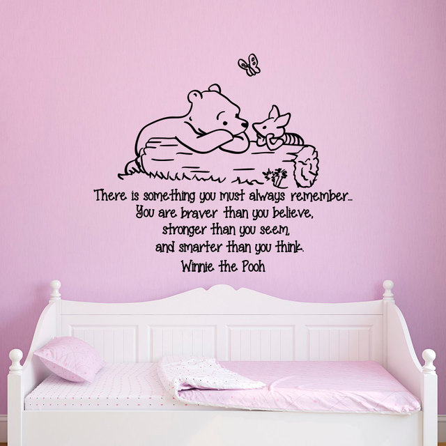 Wall Decals Quotes Winnie The Pooh You Are Braver Than You Believe