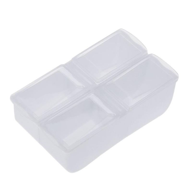 Portable 4 Grids Medicine Box Plastic fever cold Box Container Vitamins Beads Tablets Capsules Splitters with Lid image